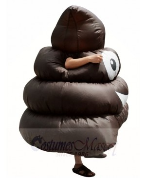 Emoji Poop Pile Smile Black Shit Inflatable Halloween Blow Up Costumes for Adults
