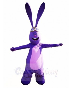 Purple Rabbit Long Ear Easter Bunny Mascot Costumes Animal
