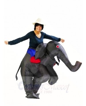 Ride on Black Elephant Inflatable Halloween Xmas Costumes for Adults