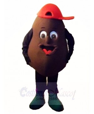 Black Chocolate Coffee Beans Mascot Costumes Plant