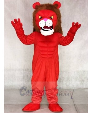Red Power Cat Lion Mascot Costumes Animal