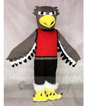 Grey Seahawk with Red Shirt Mascot Costumes Animal