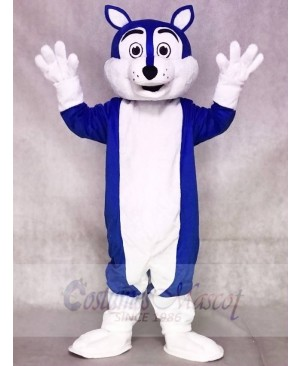 Dark Blue Wolf Fursuit Mascot Costumes Animal