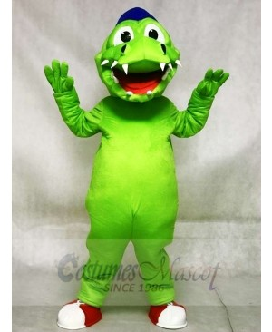 Blue Hat Green Crocodile Alligator Mascot Costumes