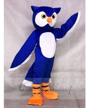 Blue Owl Mascot Costumes Animal
