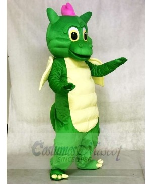 Green Dragon with Yellow Wings Mascot Costumes