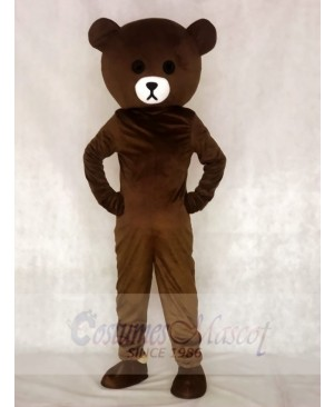 Brown Bear Mascot Costumes Line Town Friends Animal