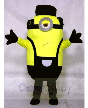 Unhappy Minion in Prison Despicable Me Mascot Costumes with Hat Cartoon
