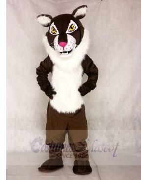 Brown Wildcat Bobcat Mascot Costumes Animal