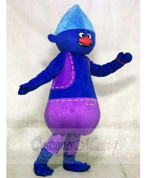 Blue Big Fat Biggie Trolls Mascot Costumes Cartoon