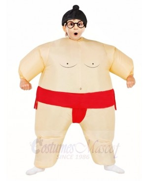 Red Japanese Fat Man Sumo Inflatable Halloween Christmas Costumes for Kids