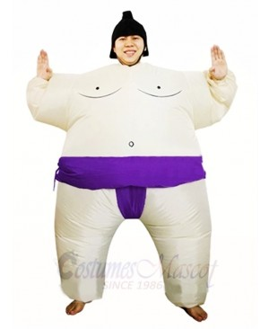 Purple Japanese Fat Man Sumo Inflatable Halloween Christmas Costumes for Adults