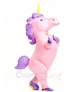Pink Unicorn Inflatable Halloween Christmas Costumes for Adults