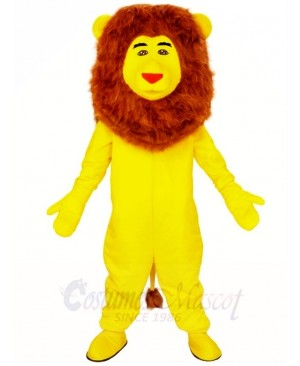 Yellow Lion Brown Mane Mascot Costumes Animal