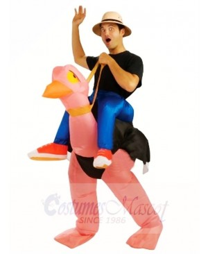Carry me Ride On Ostrich Inflatable Halloween Christmas Costumes for Adults