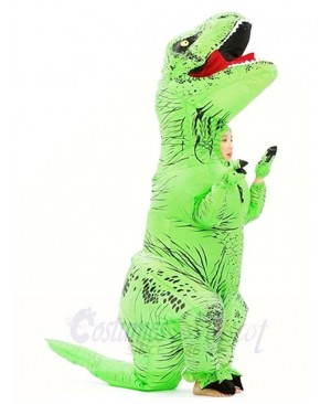 Green T-REX Dinosaur Inflatable Halloween Christmas Costumes for Kids