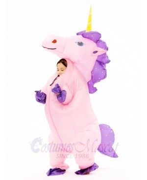 Pink Unicorn Inflatable Halloween Christmas Costumes for Kids