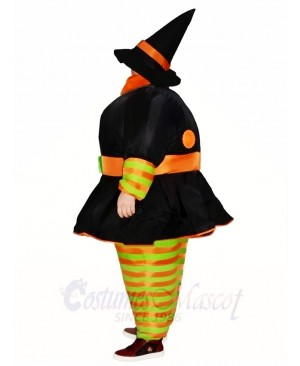 Fat Witch Inflatable Halloween Christmas Costumes for Adults