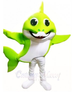 PinkFong Green Grandpa Baby Shark Mascot Costumes Sea Ocean Cartoon