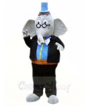 Blue Hat Elephant Mascot Costumes Animal