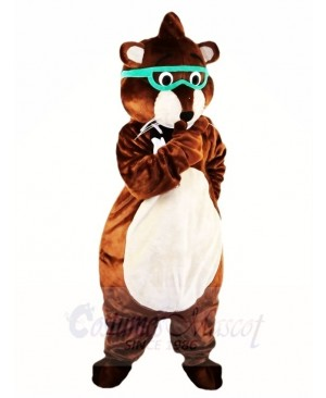 Glasses Mouse Gopher Mascot Costumes Animal