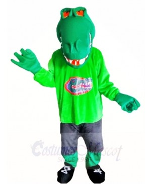 Green Muscle Croc Crocodile Alligator Mascot Costumes Animal