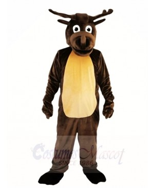 Dark Brown Deer Moose Mascot Costumes Animal