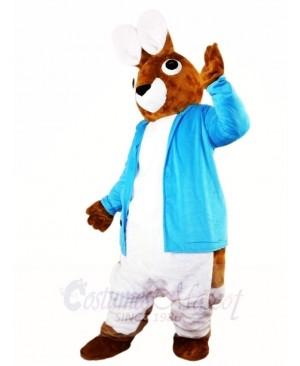 Blue Vest Peter Rabbit Big Ear Easter Bunny Mascot Costumes Animal