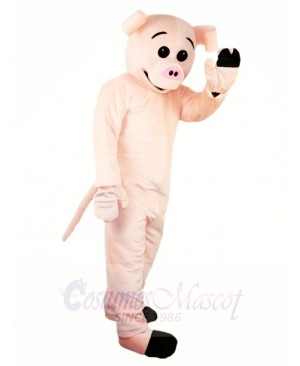 Cute Pink Pig Mascot Costumes Farm Animal