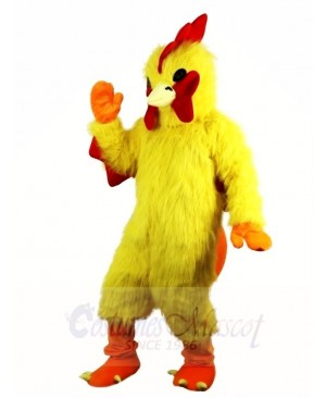 Yellow Chicken Cock Rooster Mascot Costumes Poultry Animal