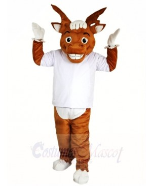 White Shirt Elk Wapiti Moose Mascot Costumes Animal