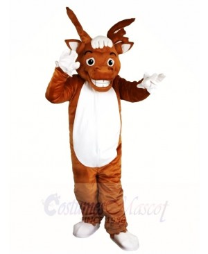 Brown Elk Wapiti Moose Mascot Costumes Animal