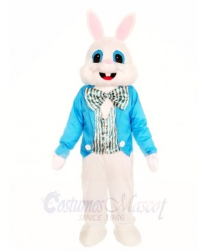 Rabbit Easter Bunny with Blue Shirt Mascot Costumes Animal