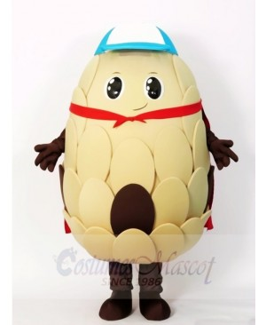 Cone in Red Cloak Mascot Costumes Plant