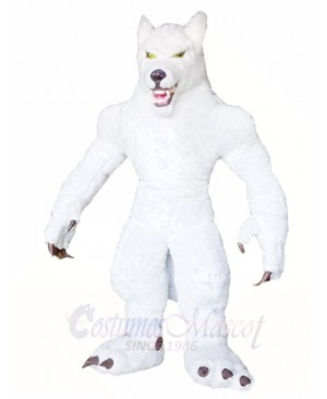 White Wolf Mascot Costumes Animal