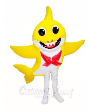 PinkFong Yellow Baby Shark Mascot Costumes Sea Ocean Cartoon