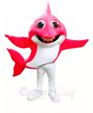 PinkFong Pink Grandma Baby Shark Mascot Costumes Sea Ocean Cartoon