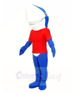 Blue Smile Shark Mascot Costumes Sea