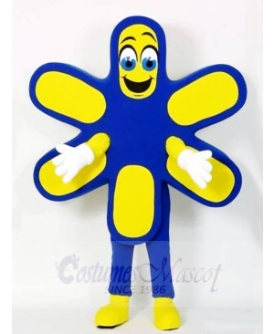 Blue and Yellow Flower Mascot Costumes Plant