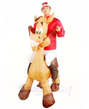 Ride on Horse Blow Up Donkey Inflatable Halloween Xmas Costumes for Adults