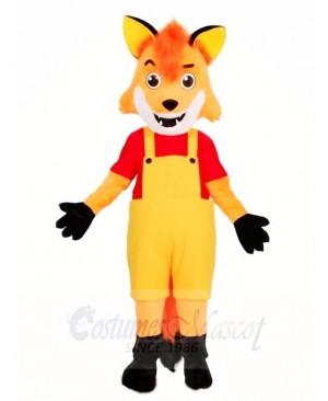 Fox in Overalls Mascot Costumes Animal