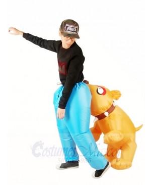 Biting Bulldog Bites Men Inflatable Halloween Xmas Costumes for Adults