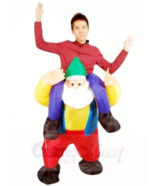 Ride on Garden Gnome Elf Inflatable Halloween Xmas Costumes for Adults