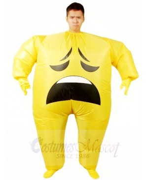 Emoji Anxious Inflatable Halloween Xmas Blow up Costumes for Adults