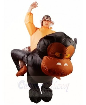 Ride on Gorilla Monkey Orangutan Gibbon Chimp Inflatable Halloween Xmas Costumes for Adults