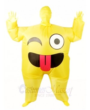Emoji Smile Inflatable Halloween Xmas Blow up Costumes for Adults