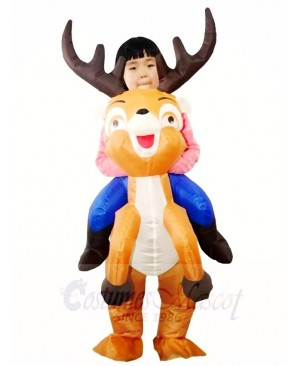 Ride On Reindeer Inflatable Halloween Christmas Xmas Costumes for Kids