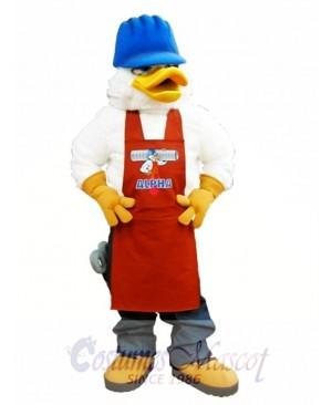 Alpha Duck Mascot Costume White Canada Duck Mascot Costume