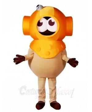 Yellow Diver Mascot Costumes