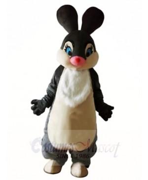 Gray Easter Bunny Rabbit Hare Mascot Costumes Animal